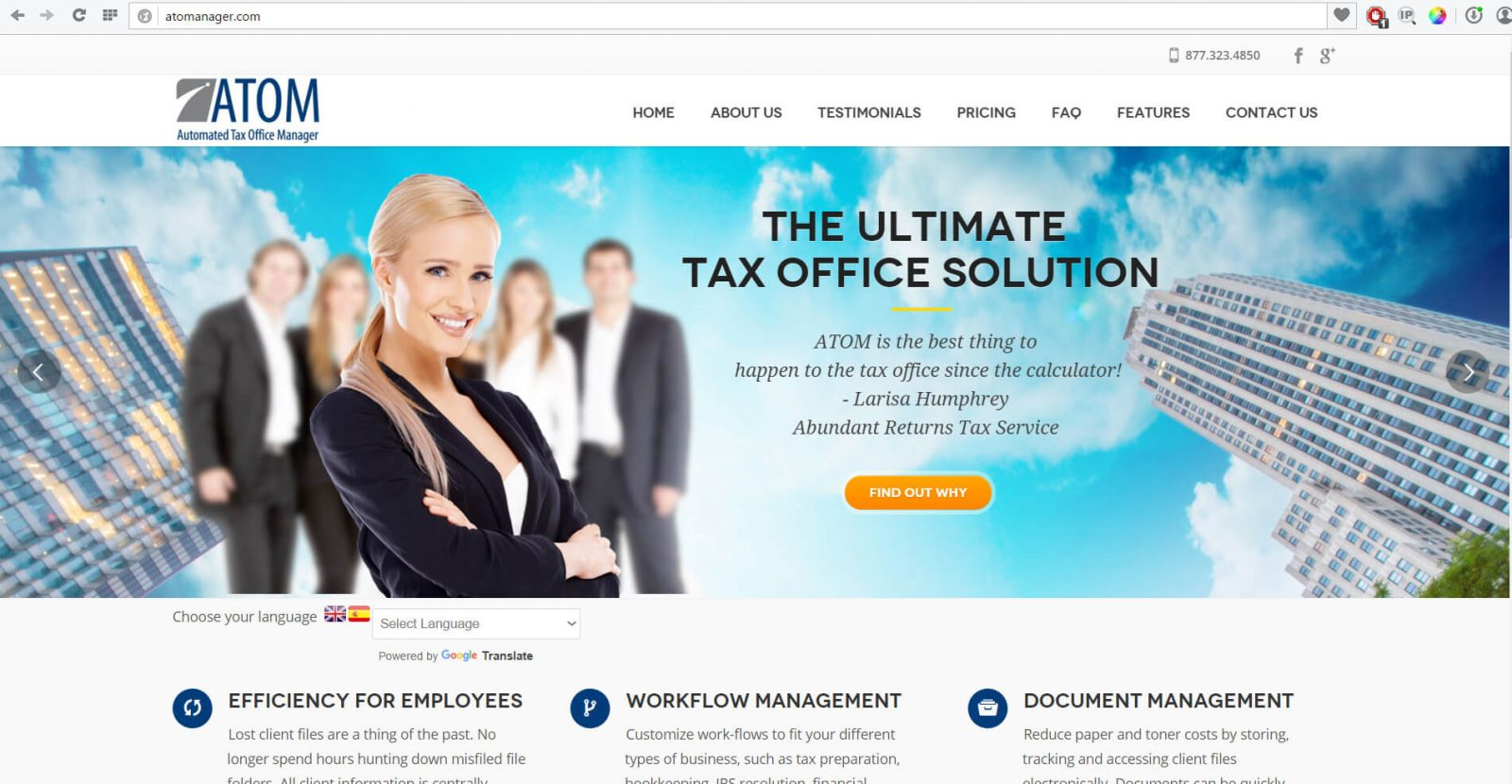 tax preparer websites - Atomanager