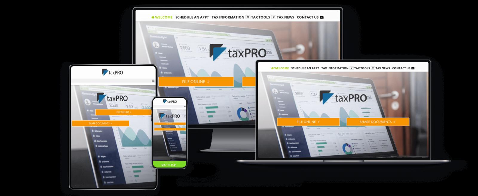 Tax Preparer Website Design - Tax Pro Websites by SiteDart